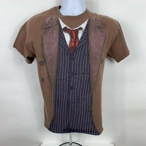 Doctor Who T-Shirt Men's Size Small Brown Crew Nec